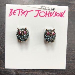 Betsy's Johnson owl earrings